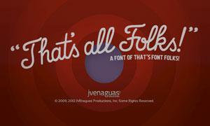 That's Font Folks!(英文手写字体)