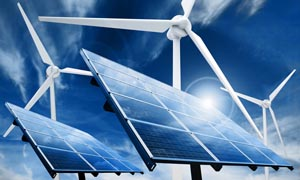 太阳能和风车设计图片素材
