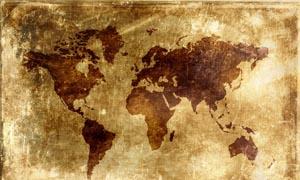 颓废背景中世界地图图片素材