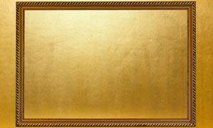 金色边框和颓废金属背景图片素材