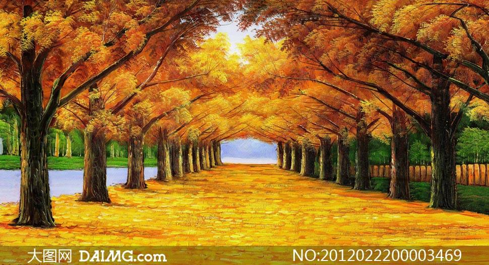 大图首页 高清图片 绘画书法 > 素材信息          树林中的仙鹤油画
