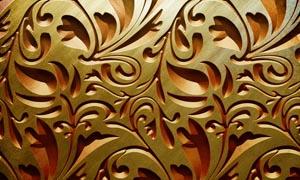 质感的金属花纹雕刻设计图片素材