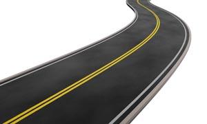 高速公路道路延伸图片素材
