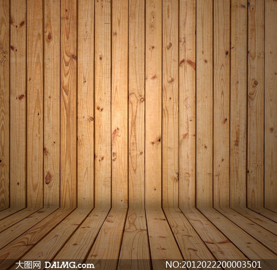 木纹木板木墙拐角图片素材