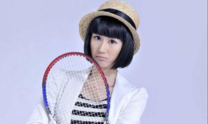 网球宝贝梁燕燕高清摄影图片