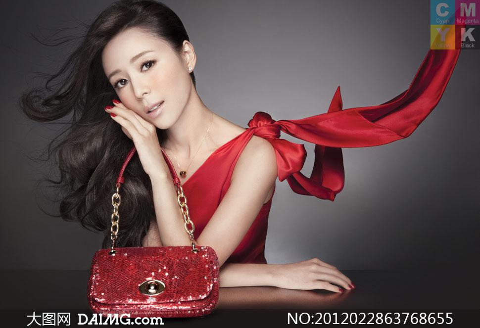 女包广告美女模特人物高清摄影图片