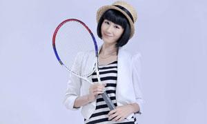 高挑身材的网球宝贝人物高清摄影图片