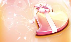 38妇女节心形礼盒海报设计PSD源文件