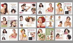 女人花板式设计PSD分层素材