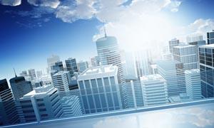 矢量风格都市城市建筑图片素材