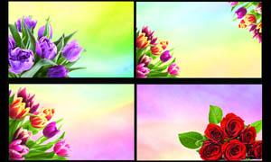 鲜花店名片背景设计PSD分层素材