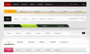 时尚的网页导航条设计PSD源文件