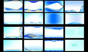 蓝色和紫色名片背景设计PSD分层素材