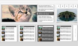 图片类网站首页设计PSD分层源文件