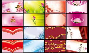 梦幻炫彩卡片背景设计PSD分层素材