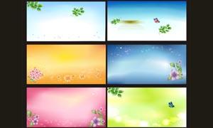 梦幻炫彩卡片背景设计矢量素材