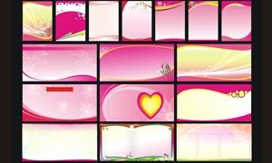 紫红色展板背景设计矢量素材