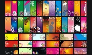 潮流时尚卡片背景设计矢量素材