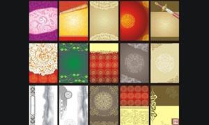中国风展板背景设计矢量素材