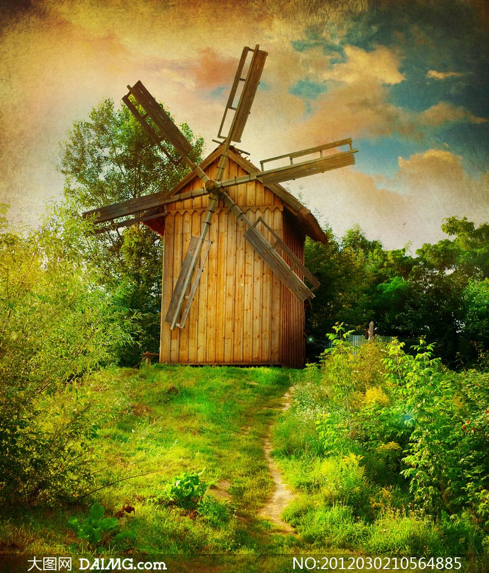 油画欧式房子图片大全