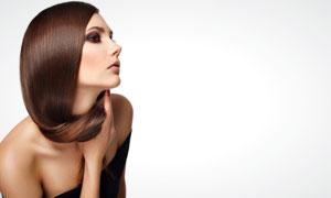 外国长发抹胸美女模特高清摄影图片