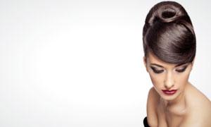 外国美发模特发型展示高清摄影图片