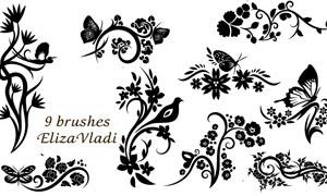 装饰花朵花纹笔刷