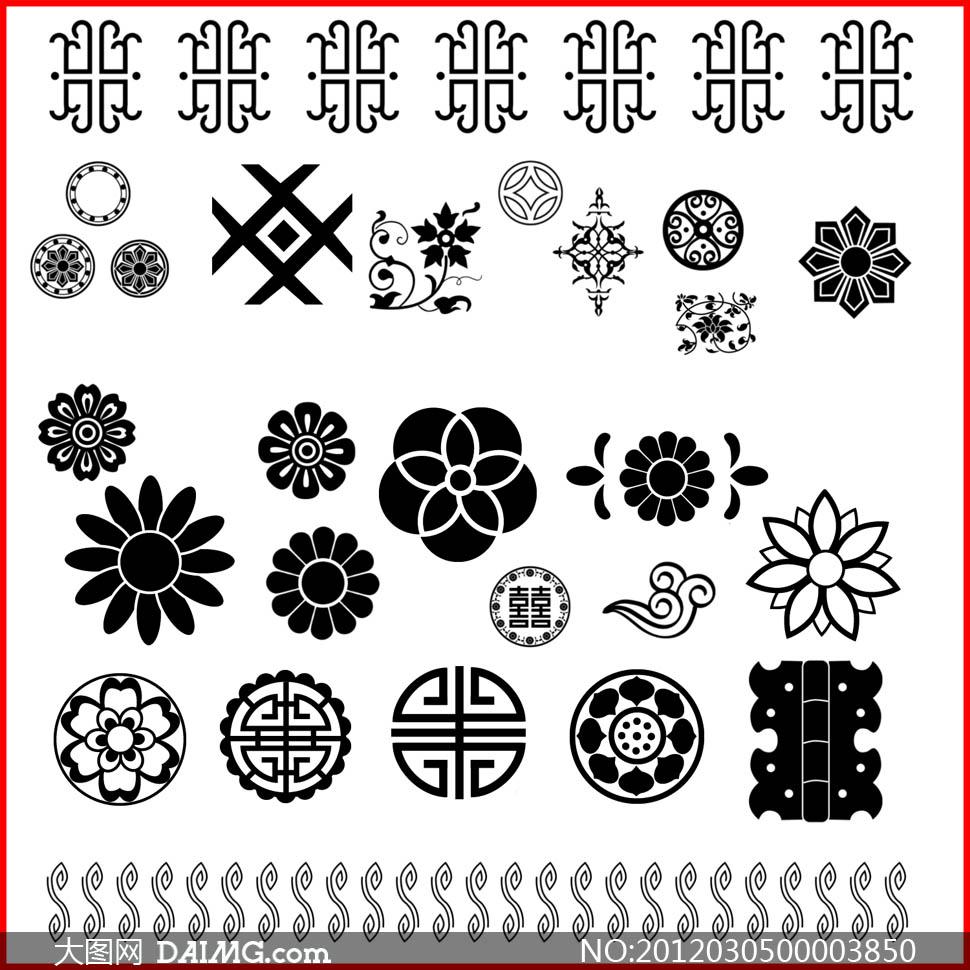 喜庆背景图案笔刷 - 大图网设计素材下载