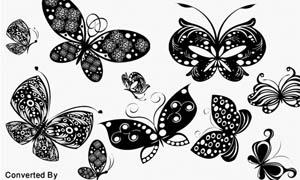 时尚矢量蝴蝶笔刷