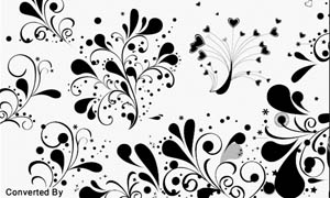 时尚花纹元素笔刷