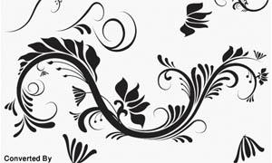 潮流花纹设计笔刷