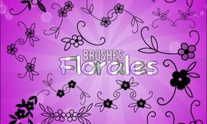 可爱手绘花朵笔刷