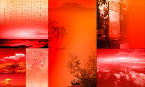 红色主题中国风元素PSD分层素材