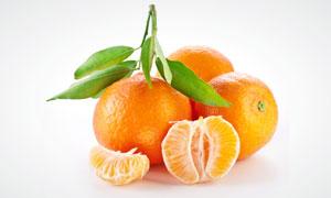 水果桔子近景特写高清摄影图片