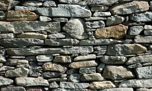 石头石块垒成的墙高清摄影图片