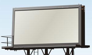 户外空白广告牌高清图片