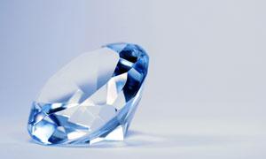 晶莹剔透钻石近景特写摄影高清图片
