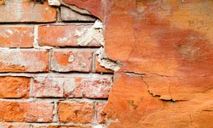 颓废墙壁脱落效果摄影高清图片