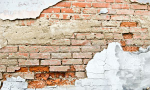 脱落很严重的墙壁摄影高清图片