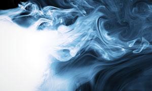 蓝色烟雾摄影高清图片