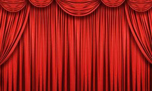 红色舞台幕布摄影高清图片