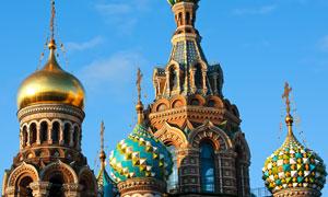 圣彼得堡基督复活教堂摄影高清图片