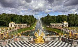 圣彼得堡夏宫景观风光摄影高清图片