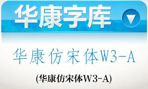 华康仿宋体W3-A