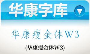 华康瘦金体W3