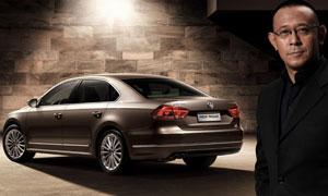 聚光灯下的全新帕萨特汽车高清摄影图片