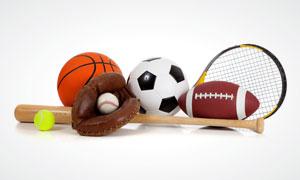 棒球足球等体育用品装备高清摄影图片