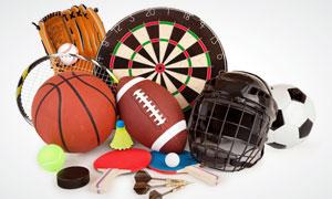 飞镖网球篮球等体育运动用品高清图片