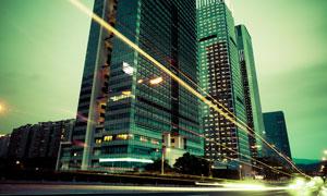 上海繁华城市夜景创意摄影高清图片