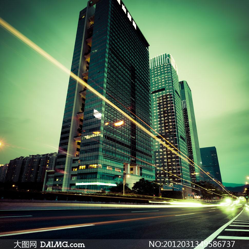 上海繁华城市夜景创意摄影高清图片 - 大图网设